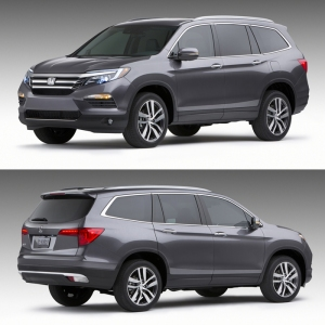2016 Honda Pilot Front Rear View