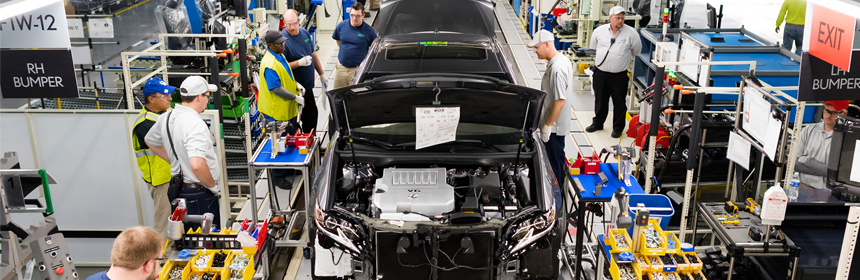 First U S Made Lexus Es 350 Rolls Off The Assembly Line