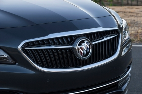 The All – New 2017 Buick LaCrosse with red, silver and blue Bu
