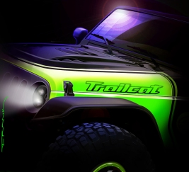 "The Jeep Wrangler ""Trailcat"" is one of seven new concepts Je"