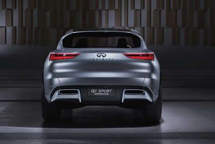 """Inspired by Infiniti's acclaimed """"Powerful Elegance"""" design philosophy – characterized by flowing sculptural lines and strong, muscular proportions – the QX Sport Inspiration lays down markers for the brand's vision of a next-generation, mid-size premium SUV. Featuring the brand's signature design cues and an array of innovative details, the concept boasts a powerful, purposeful exterior with an elegance that is uniquely Infiniti."""