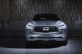 "Inspired by Infiniti's acclaimed ""Powerful Elegance"" design philosophy – characterized by flowing sculptural lines and strong, muscular proportions – the QX Sport Inspiration lays down markers for the brand's vision of a next-generation, mid-size premium SUV. Featuring the brand's signature design cues and an array of innovative details, the concept boasts a powerful, purposeful exterior with an elegance that is uniquely Infiniti."